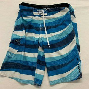 O'Neill Men's Board Shorts Size 34 Blue White